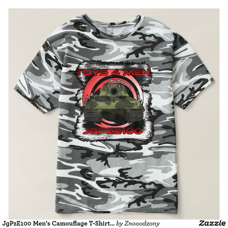 JgPzE100 Men's Camouflage T-Shirt, Urban Woodland T-Shirt