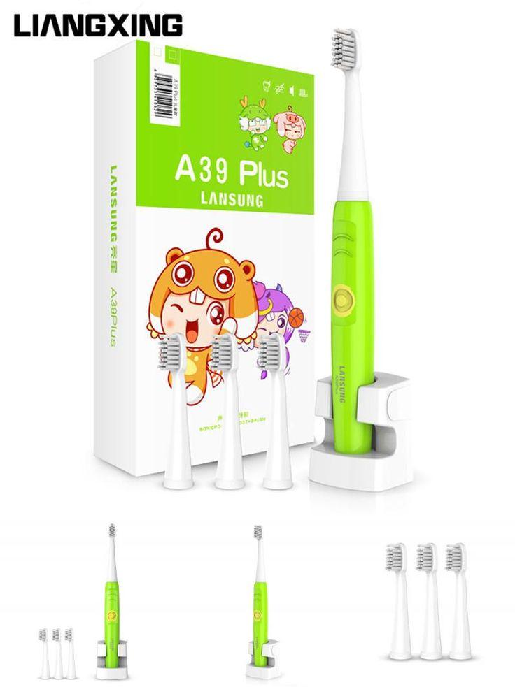 [Visit to Buy] LIANGXING Kids Electric Toothbrush Kids Tooth Brush Sonic Child Electric Toothbrush Rechargeable Children Toothbrush Teeth Brush #Advertisement
