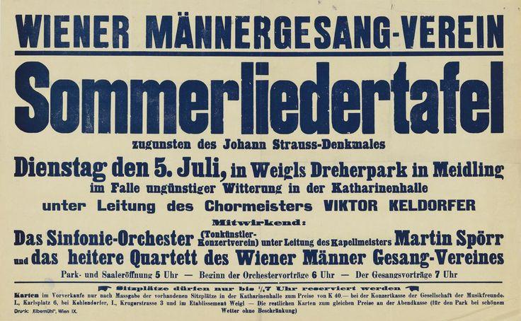Sommerliedertafel des Wiener Männergesangsverein © Wien Museum