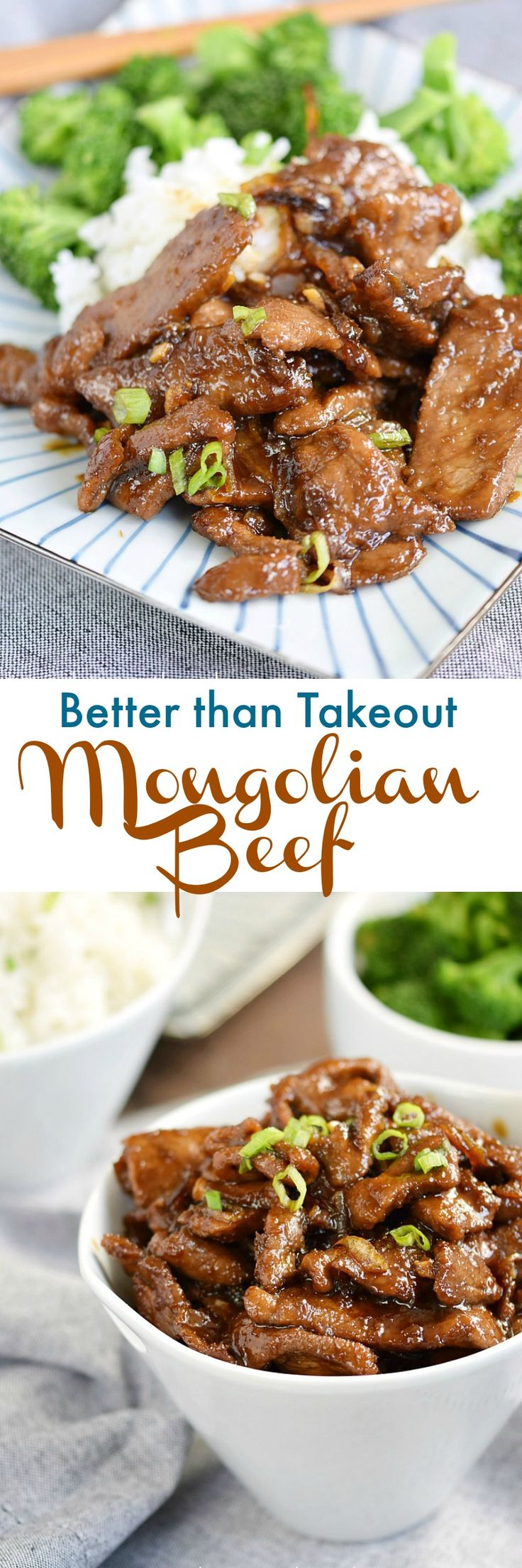 This Mongolian Beef is better than any local takeout. Thin slices or sirloin, tangy sauce, and sweet caramelized onions will leave you craving for more! cookingwithcurls.com