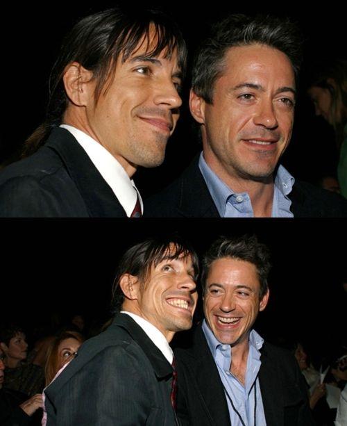 Anthony Kiedis & Robert Downey Jr. HELL YEAH my two favvvvv men