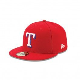 New Era Texas Rangers Authentic Collection Post Season Side Patch 59Fifty Fitted Hat (Red)