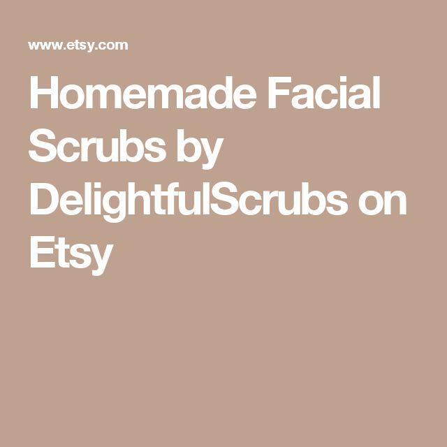 Homemade Facial Scrubs by DelightfulScrubs on Etsy