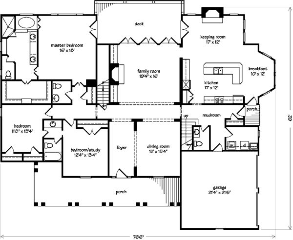143 best house plans images on pinterest floor plans for Southern living house plans with keeping rooms