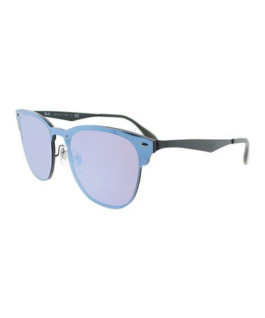 9cac2dda06 This Baby Blue   Black Clubmaster Sunglasses - Unisex is perfect!   zulilyfinds
