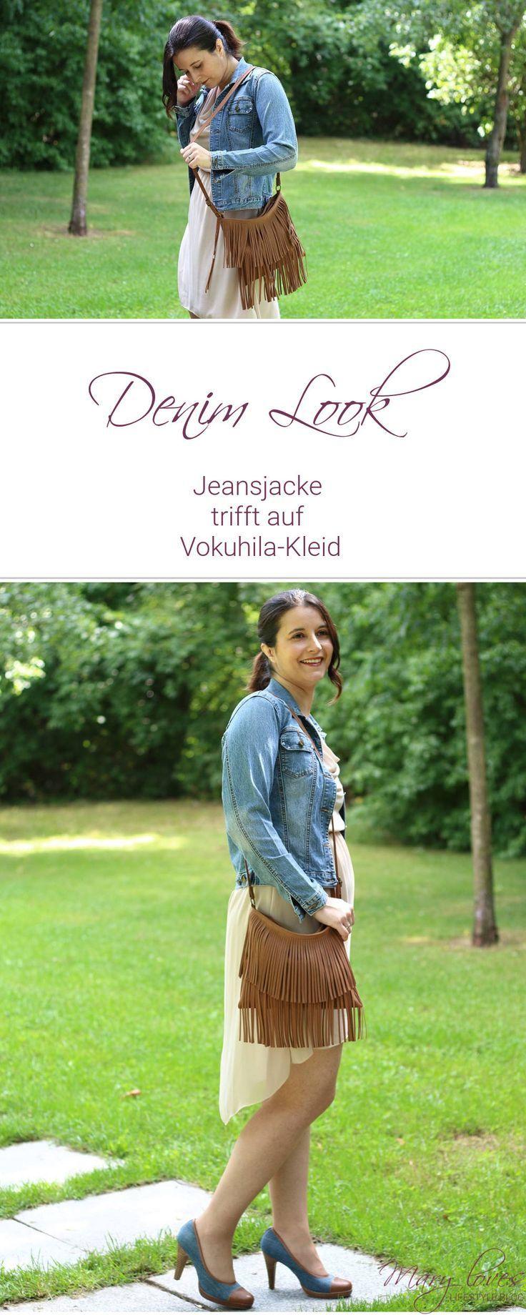 76933d6b5611d Denim Look - Jeansjacke trifft auf Vokuhila-Kleid