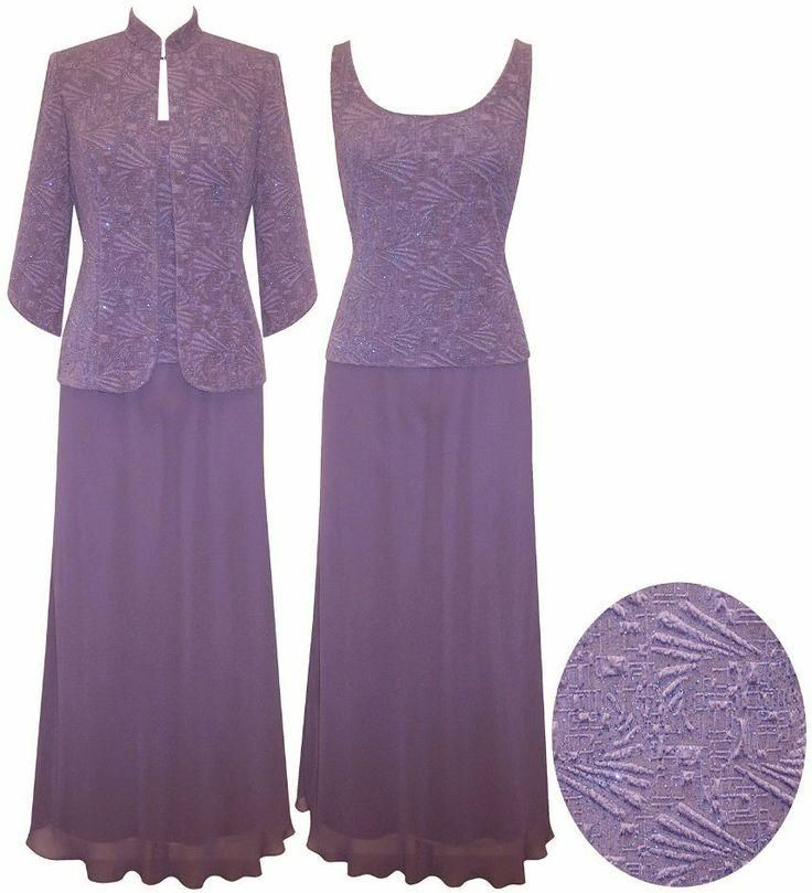 Elegant Purple Mother Of The Bride Dresses With Jacket Shining A Line Floor length Plus Size Sash Women Dresses Beaded Sequins Evening Gowns