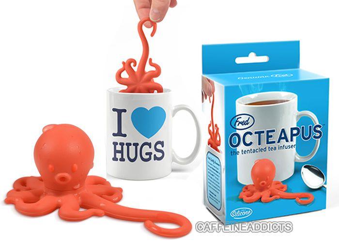 Best 25 tea strainer ideas on pinterest tea set ceramic pottery and afternoon tea set - Octopus tea infuser ...