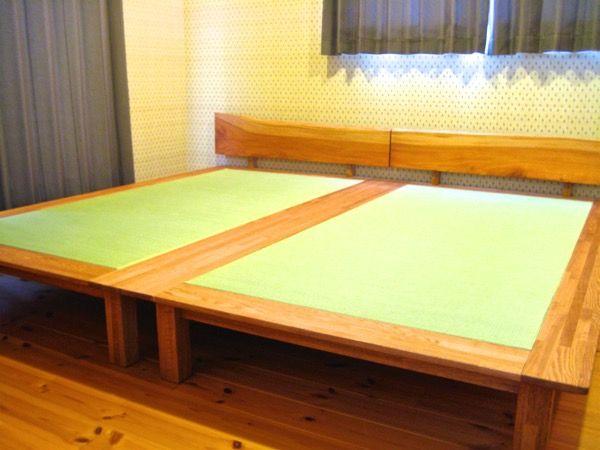 お客様の畳の感想  先週、畳を送っていただいて無事ベットが完成しました サイズも ...