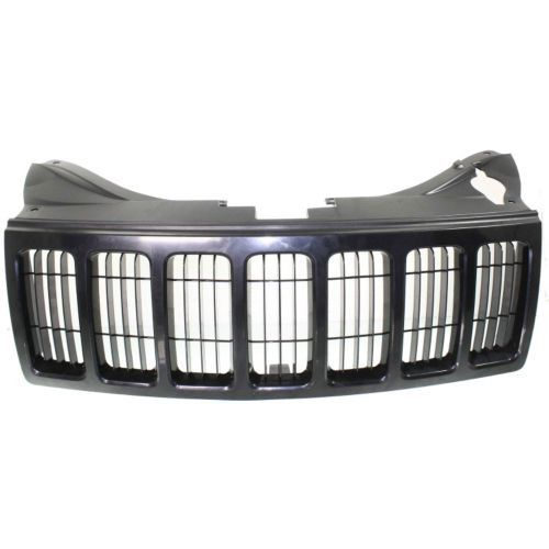 2008-2010 Jeep Grand Cherokee Grille, Black Shell/ Black