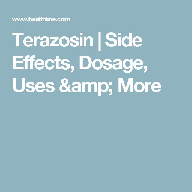 Terazosin | Side Effects, Dosage, Uses & More