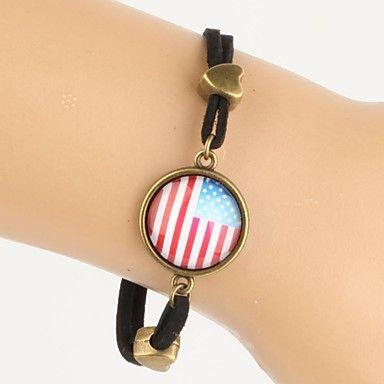 time juweel glaskunst cabochon Amerikaanse nationale vlag armband (1 stuk) 2016 – €1.95