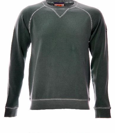 Hugo Boss Wheel Sweatshirt Green Hugo Boss Wheel Sweatshirt Green features a round crew neck which is ribbed with thread work around the edges a Boss Orange logo on the sleeve of the arm ribbed cuffs and a hem comfortable garment for http://www.comparestoreprices.co.uk/designer-sweatshirts/hugo-boss-wheel-sweatshirt-green.asp