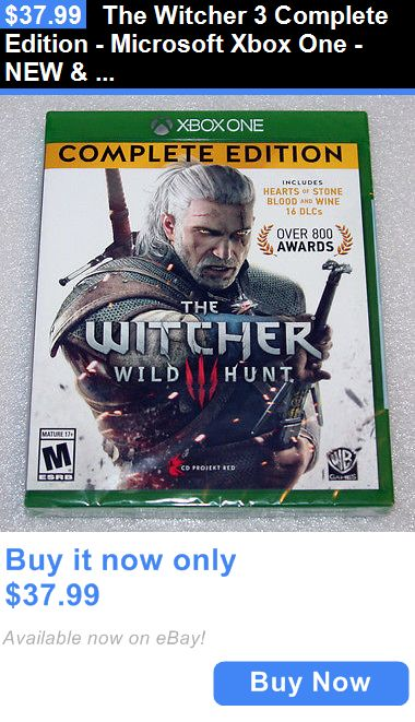 Video Gaming: The Witcher 3 Complete Edition - Microsoft Xbox One - New And Sealed BUY IT NOW ONLY: $37.99