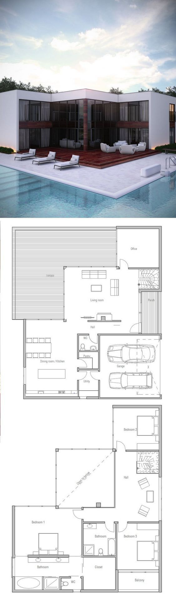 Modern House Plan from ConceptHome.com: