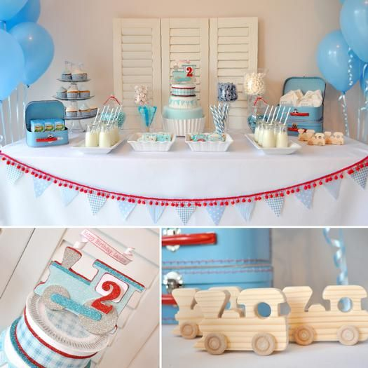 My boy would love this train themed party!