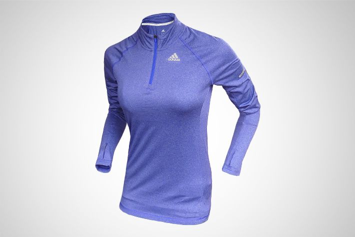 #adidas Sequencials CC Run 1/2 Zip LS Tee W