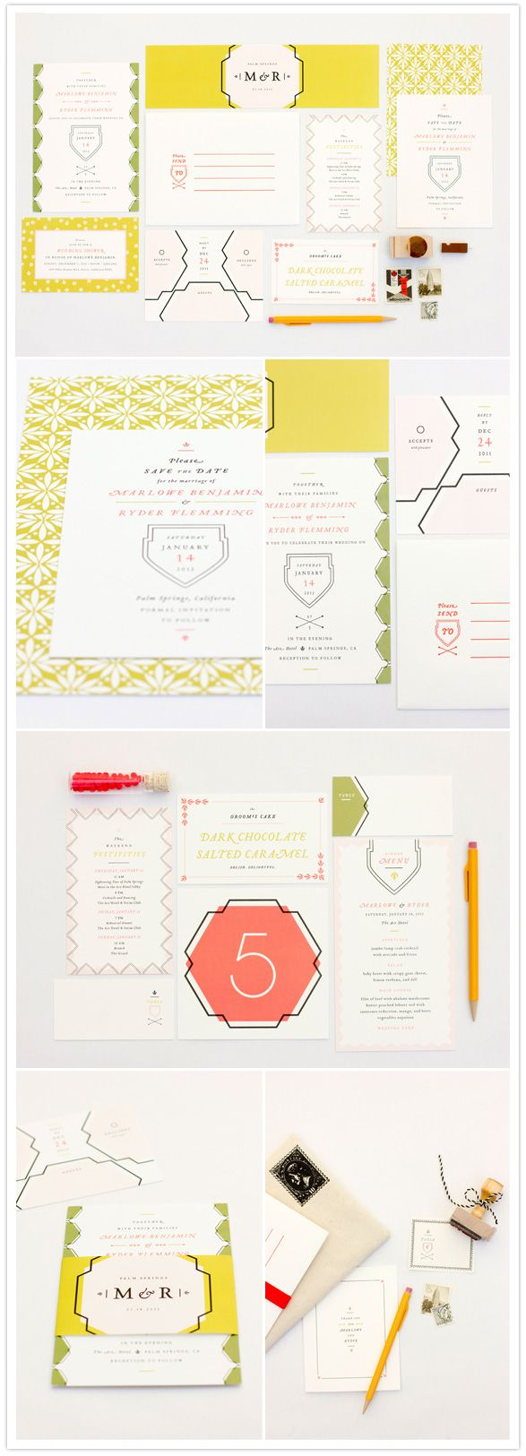 Offset & Letterpress Wedding Invitations & Save the Dates | Mae Mae Paperie | Available at Rock Paper Scissors in Ann Arbor, Michigan!