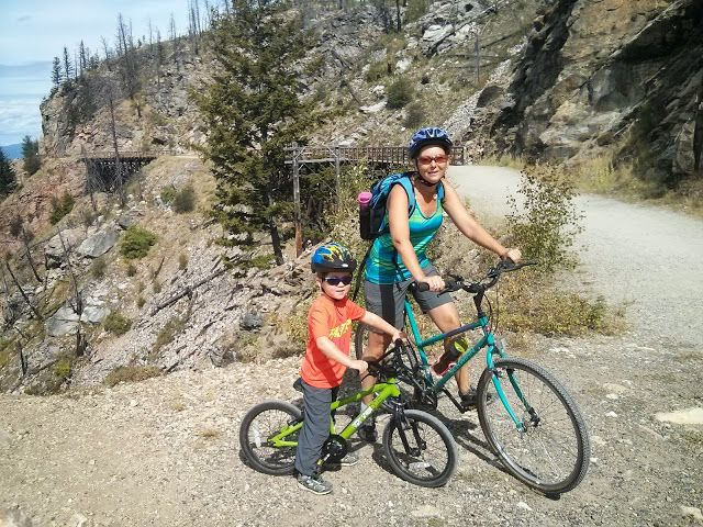 Biking the Kettle Valley Railway Trail, Kelowna British Columbia (Family Adventures in the Canadian Rockies)