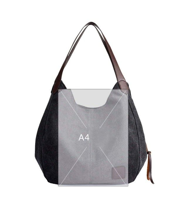 c10798ca76 Women Big Capacity Canvas Top Handle Tote Handbag Shoulder Bags Free Makeup  Brush Set - CC18CGU0XD3