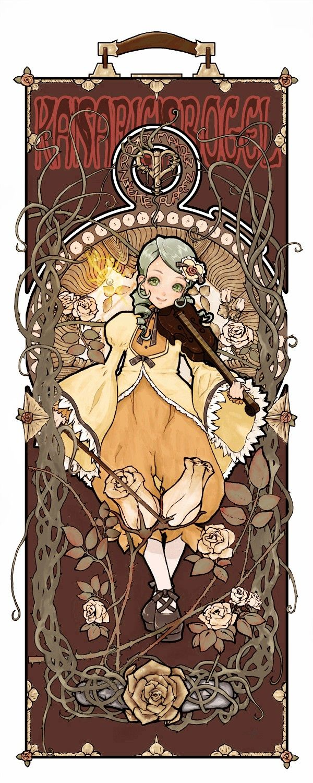 Tags: Anime, Violin, Rozen Maiden, Kanaria, Thorns, Art Nouveau, Fujinozu