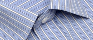 Full sleeve formal shirt in lavish light blue and white stripes. Designed to keep you looking fresh and classy, from your morning coffee to you dinner date.     Style with:  Black, beige or grey trousers.  Team with a black  jacket for a great evening wear look.