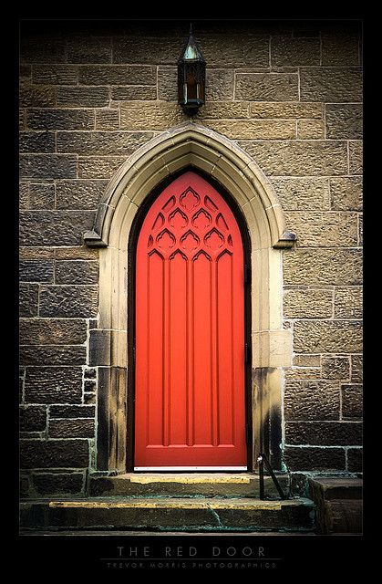 The door pictured above is located near the back of the Christ Church Cathedral, in downtown Fredericton, New Brunswick, Canada.