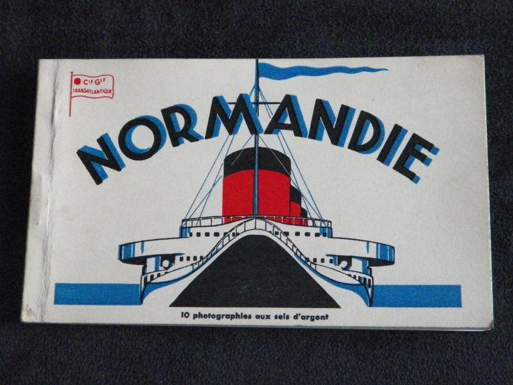Booklet of 8 postcards inside the Normandy Steamer | Postcards Vintage French…