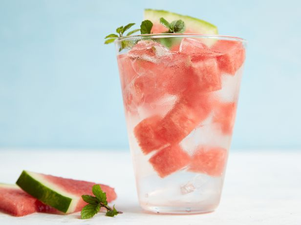 Watermelon-Mint WaterFood Network, Watermelonmint Water, Watermelon Mint Water, Watermelon Mint Infused, Network Kitchens, Healthy Eating, Infused Waters, Drinks, Infused Water Recipes