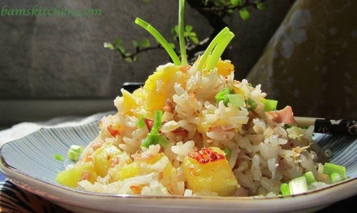 Hawaiian Luau Rice (sub tofu or shrimp for the ham)