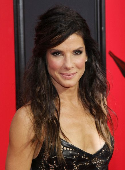 Sandra Bullock Half Up Half Down Sandra Bullock Hair