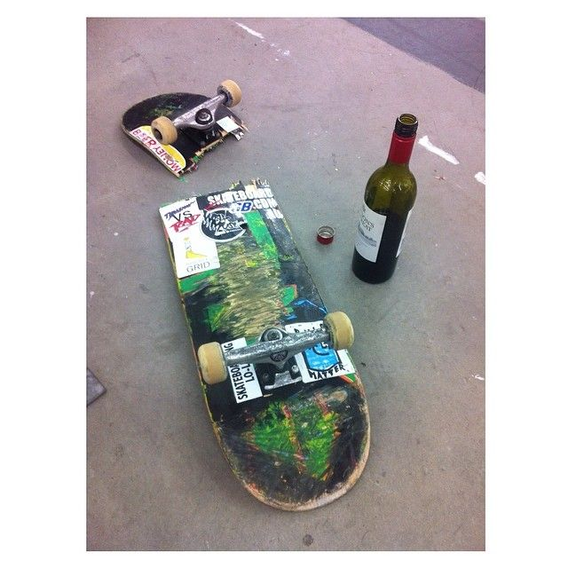 diversal:  the problem & the solution. sick session at Nike today lads. @chris_middlebrook @mike_martin @caseyfoley1 #skateboarding #wine