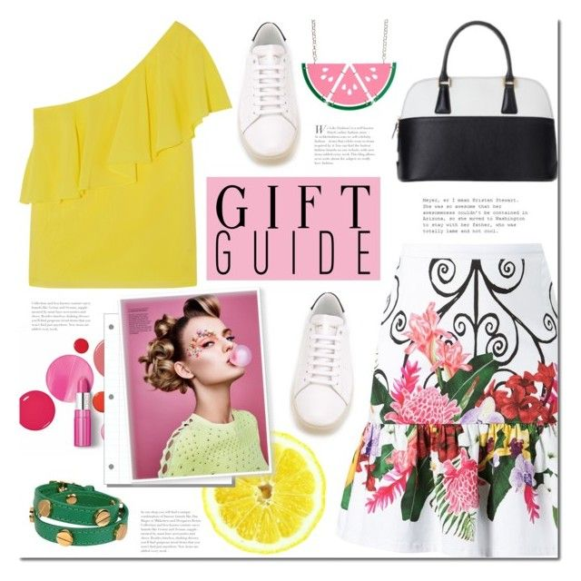 Gift Guide by mada-malureanu on Polyvore featuring Alice + Olivia, Isolda, Yves Saint Laurent, CC SKYE, Clinique, Dudu, mothersdaygiftguide and dudubags