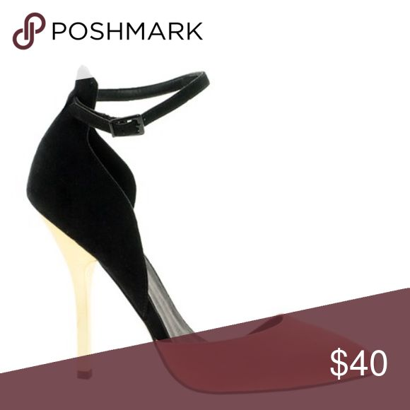 Color block heels ASOS PARADOX Pointed High Heels. Coral, black, and gold heels. Worn for several photoshoots. Not able to locate size on shoe, was listed 7.5 at purchase ASOS Shoes Heels