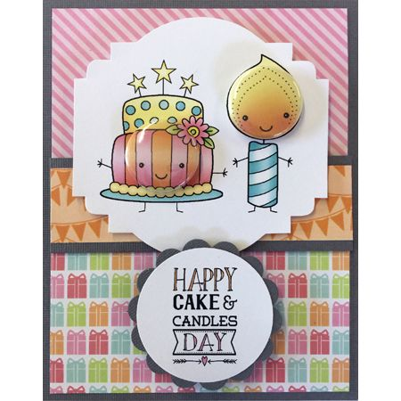Darcies Stamps Cake And Candles