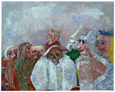 James Ensor Masques raillant la mort 1888