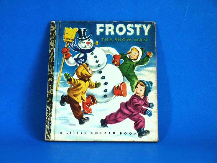 Frosty The Snow Man Story Book - Little Golden Books - 1951 - Retro Vintage Children Christmas Hardcover Sydney by FunkyKoala on Etsy