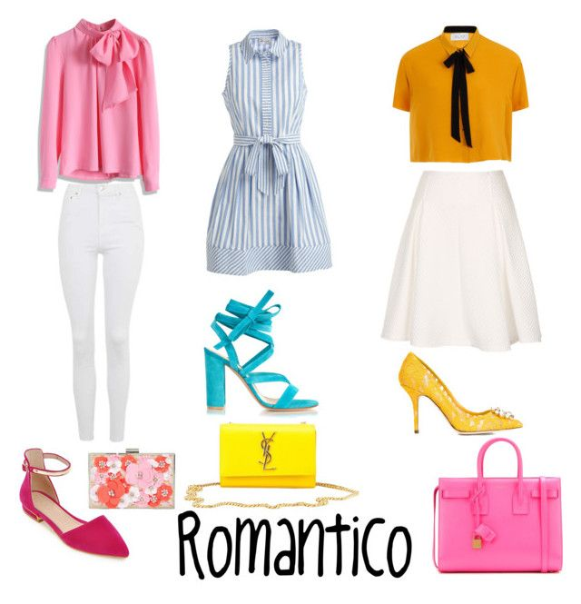 romantico by maria-camila-fernandez-mejia on Polyvore featuring polyvore fashion style Milly Elvi Chicwish Topshop Gianvito Rossi Dolce&Gabbana Yves Saint Laurent New Look clothing