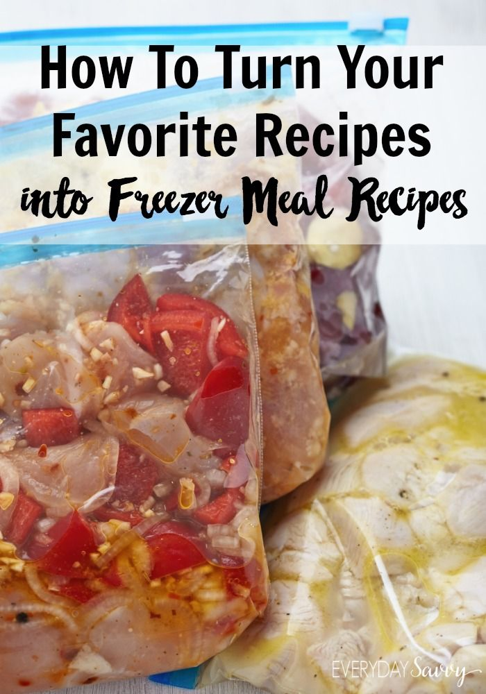 Are you considering freezer meals as a great way to save time and money in the kitchen?  If so, you may be wondering if you are stuck with using only specified freezer meals.  The truth is, almost any recipe can be turned into a freezer meal with the right tips.  Click through to see the tips now.  via @everydaysavvy