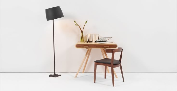 Fonteyn Walnut and Oak Desk | made.com