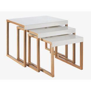 Habitat Kilo Nest Of 3 Tables - White from Homebase.co.uk