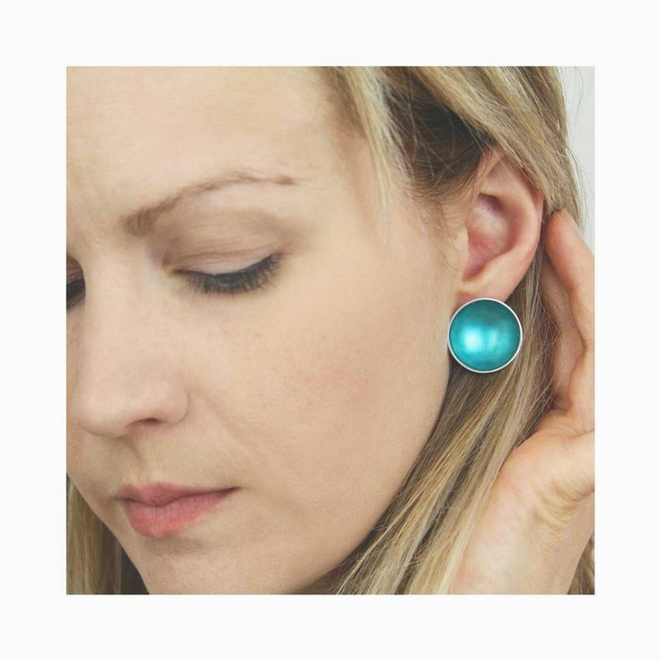"""""""I've been playing with ideas for some new variations in the enamel collection and have supersized the enamel earrings..."""