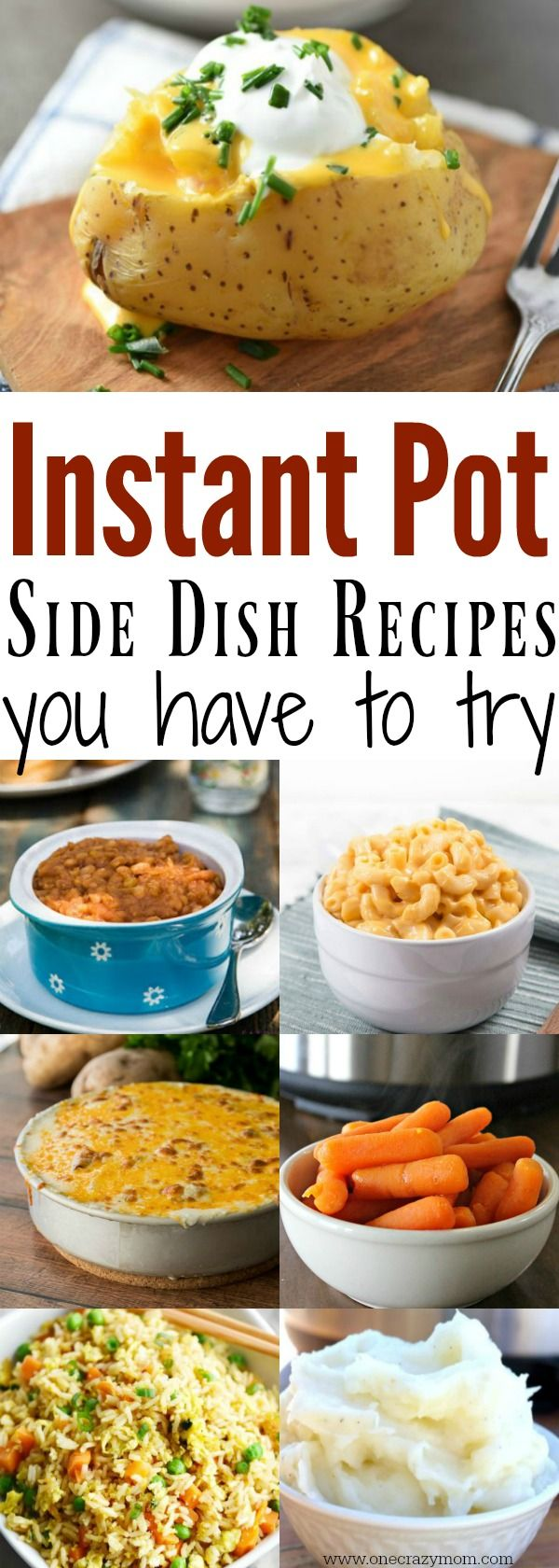 Easy Instant Pot Side Dish Recipes you will love. Try these easy pressure cooker side dish recipes. 15 easy side dish recipes. Instant pot side dishes your family will love.