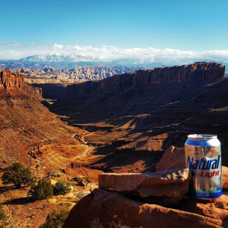 Light pack beer in Moab Utah