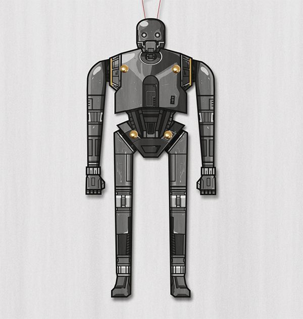 This very nice Droid K-2SO Paper Toy Puppet , from the movie Rogue One: A Star Wars Story,  is offered by Swedish designer M. Gulin.    Est...