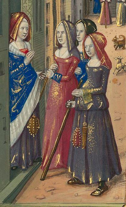 Titre : « Le Livre des faiz monseigneur saint Loys », composé à la requête du « cardinal de Bourbon » et de la « duchesse de Bourbonnois ».  Date d'édition : 1401-1500  Français 2829 folio 100r