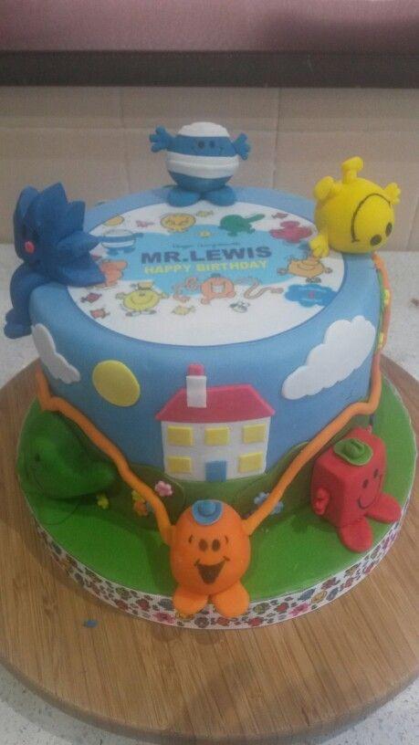 Mr Man birthday day cake all fondant