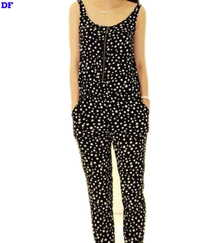 Polka Dot Rompers Womens Jumpsuit Black Elegant Jumpsuit Coveralls Plus Size Overalls For Women Jumpsuits