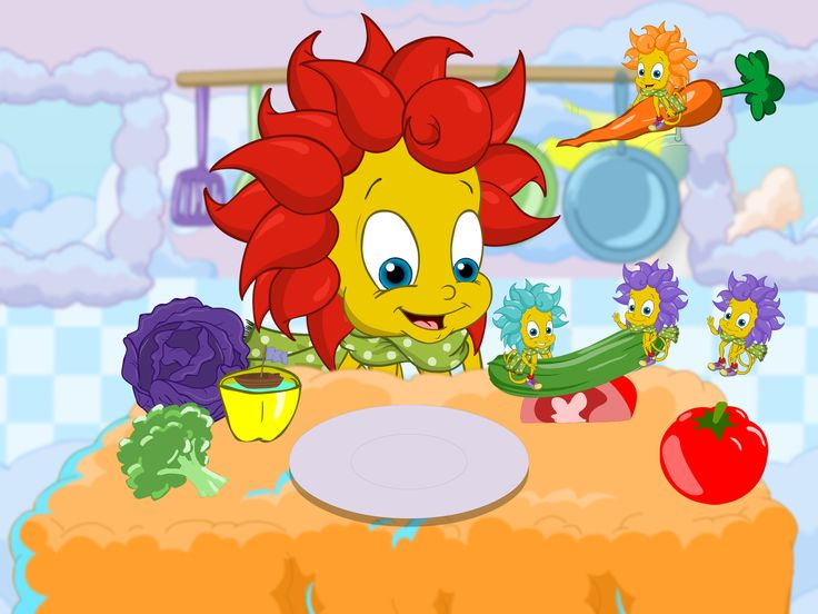 The BreezyPals™ use their imagination to turn their vegetables into a prop in games and stories. Early childhood development, Develop skills in children