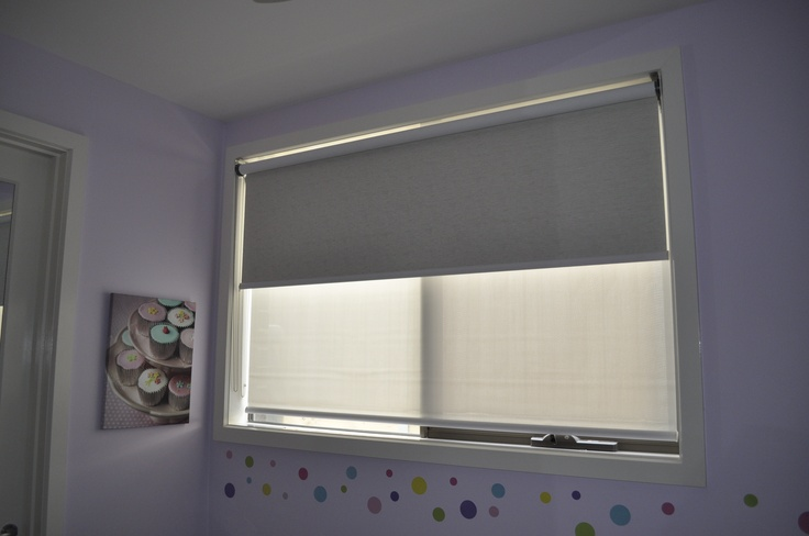 Double Roller Blinds work well in that during the day you can allow light to enter the room while keeping the harsh heat out. At night simply use the Blockout blind to give you complete privacy.